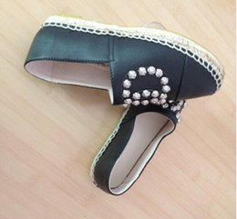 Wholesale B 42 - Newest Arrival Brand Thick Sole Genuine Leather Flats Espadrilles Women's Suede Shoes 5 colors size 35-42