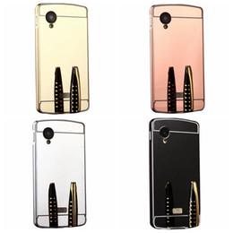 Wholesale Stylus Metal Cases - For LG K8,K10,NEXUS 5,NEXUS 5X ,Stylus 2 plus Acrylic For HTC M10 10,A9,Bling Mirror Case+Aluminum Metal Bumper Luxury Hybrid Hard PC CoverS