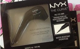 Wholesale makeup tips color - Hot Makeup NYX The Curve Felt Tip Liquid Eye Liner color Jet Black NEW IN BOX Waterproof