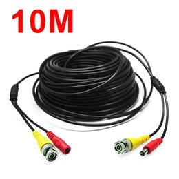 Wholesale dvr video bnc cables - 33Feet 10M BNC RCA Audio Video Power Extension Cable DVR Surveillance Wire for CCTV Security Camera CCT_213