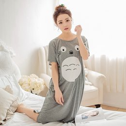 Wholesale Totoro Dress - Wholesale- Cosplay my neighbor Totoro sleepwear Loungewear nightwear summer night dress T Shirt pijama Short Sleeve Tees Tops Tshirt