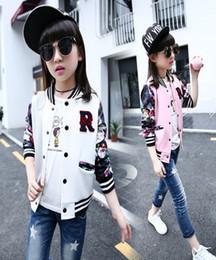 Kinder Kleidung Mädchen Mantel Herbst Trainingsanzug Outfit Neue Koreanische Blumenherbst Stil Pinting Baseballuniform Jacke von Fabrikanten