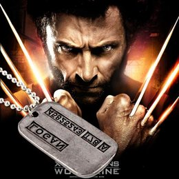 Wholesale x men necklace - European And American Popular Classic Film X-Man Necklace Retro sheetmetal Wolverine Pendant Necklace Fashion Jewelry As Gift