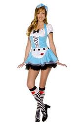 Wholesale Adult Alice Costume - Wholesale-Free Shipping Sexy Alice Costumes For Adults Adult Alice in Wonderland Costume 4F1294
