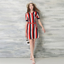 Wholesale Lady Nick - New Women Shirt Dresses Popular Ladies A-Line Casual Dresses with V-Nick for Autumn Style Hot Sale