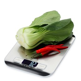 Wholesale Electronic Kitchen Baking - Flat Stainless Steel Surface Kitchen Scale 5kg Real Baking Scales Electronic Scales Portable Handy Pocket food Weight