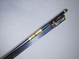 Wholesale Cello Carbon - 3 PCs Strong Carbon Fiber Bow 4 4 With black bow hair ebony frog Black carbon cello bow black bow hair