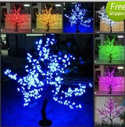 Wholesale Beautiful Garden Trees - 2017 NEW Beautiful LED Cherry Blossom Christmas Tree Lighting P65 Waterproof Garden Landscape Decoration Lamp For Wedding Party Christmas MY