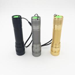 Wholesale Mini Q5 Torch Light - 2000 Lumen Zoomable XM-L Q5 LED Flashlight Torch Zoom Lamp Light Black Gold Gray Lanterna LED 3 Modes use 18650 Penlight