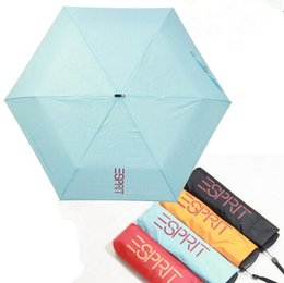 Wholesale Small Wholesale Umbrellas - Mini Pockets Umbrella Creative Folding Super Light Small Foldable Umbrella Women Sun Rain Flat Umbrellas 4 Colors OOA2401
