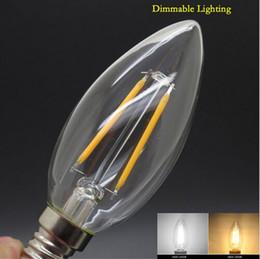 Wholesale Edison Led Spot Lamp - E14 2W 4W 6W Edison Retro Filament LED Candle Light Spot Lamp Xmas Bulb ST64 Led Specialty Decorative Light Bulbs