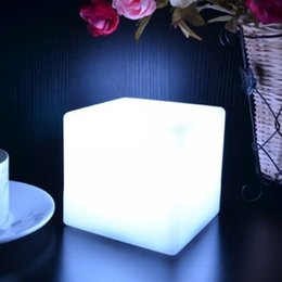 Wholesale Led Cube Tables - 10CM Magic Dice LED luminous square night light glowing decorative led cube lumineux table light for table lamp room mood light