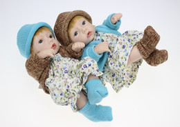 Wholesale Peanuts Doll - Little Peanut Alive Doll Reborn Boy Babies 10 Inch Full Body Silicone Vinyl Newborn Dolls With Clothes Kids Christmas Gift
