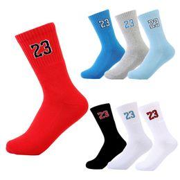 Wholesale Athletic Knee - Unisex New High quality Thicker Towel bottom Professional Men Cotton socks No. 23 elite Socks free shipping