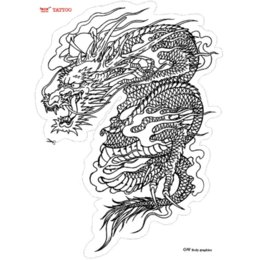 Wholesale High Quality Tattoo Dragon - Asia Traditional Designs Temporary Tattoo Stickers Waterproof Men Sexy Products High Quality Large Dragon Tattoo arm tattoos