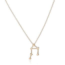 Wholesale Libra Pendant Gold - New Fashion Libra Zodiac Astrology Pendants Constellation Jewelry Astrology Star Sign Link Chain Unisex Birthday Gift Men And Women