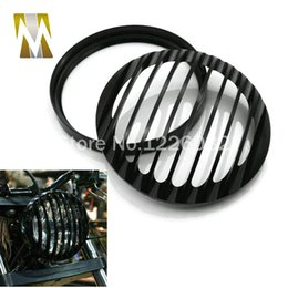 Wholesale Cover For Motorcycle Honda - harley motorcycle Daymaker Projector LED Headlight 5-3 4 5.75 Inch Headlight Grill Cover for Harley Sportster XL 883 1200 Headlight 5 3 4""