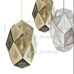 Wholesale Tom Dixon Etch Light - The new DIXON ETCH SHODE TOM geometric stainless steel light and shade simple modern ball lamp