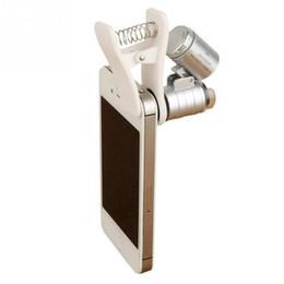 Obiettivo macro microscopio universale per telefono cellulare Obiettivo zoom ottico 60x per microtelefono LED per iPhone SE 5S 6S Plus da obiettivo di zoom ottico per il iphone fornitori