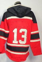 Wholesale Cheap Hoodie Jackets - Pavel Datsyuk 13 Hockey Hoodies Mens Red Wings Cheap Ice Hockey Jackets New Arrival Outdoor Hockey Wears All Teams Sports Uniform Hot Sale