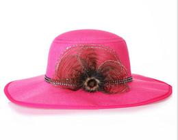 Wholesale Resort Beach Wear - Hot selling Women's Summer Wide Brim Straw Hats Floral Design Weave Floppy Caps Seaside Beach Head Wear Ornaments
