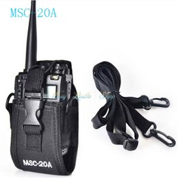 Wholesale Talkie Case - MSC-20A case Holder Pouch Bag For walkie talkie Kenwood BaoFeng UV-5R UV-5RA UV-5RB UV-5RC UV-B5 UV-B6 BF-888S Radio Case Holder