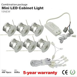 Wholesale Mini Led Dimmable - Free shipping 6pcs lot dimmable 4w mini led down light led lamp cabinet lamp led ceiling recessed grid downlight
