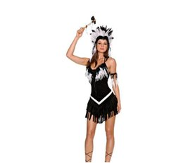 Wholesale United States Uniforms - Europe and the United States game uniforms Halloween role play Indian Empress Ladies uniforms temptation party clothing