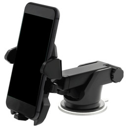 Wholesale Windshield Gps Holder - 2017 Universal Mobile Car Phone Holder 360 Degree Adjustable Window Windshield Dashboard Holder Stand For All Cellphone GPS Holders