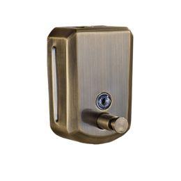 Dispenser di sapone per bagno in ottone anticato per parete con porta sapone liquido 800 ML da