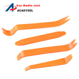 Wholesale Pry Tool Dash - Auto Car Radio Panel Door Clip Panel Trim Dash Audio Removal Installer Pry Repair Tool 4pcs set Portable Practical Free Shipping