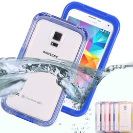Wholesale Cool Cases For Galaxy S4 - S5 S4 S3 Waterproof Cool Transparent Case For Samsung Galaxy S3 S4 S5 Case Plastic Phone Cover Coque Sports Swimming Candy Capa