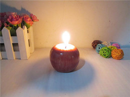 Wholesale Greeting Arts - Vintage Apple candle Home Docor Romantic Decorations Apple Scented candles Birthday Christmas Wedding Party Candles Greet Gifts 8*8*6.5CM