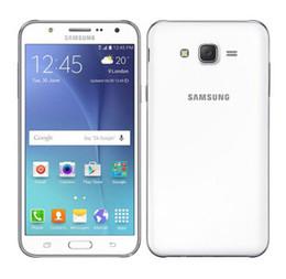 "Wholesale Unlocked Quad - Original Samsung galaxy J5 Unlocked Cell Phone Quad core Snapdragon 1.5GB RAM 8GB ROM 5.0 "" WCDMA Refurbished mobile phone"