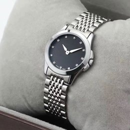Wholesale Girls Wrist Bands - fashion ladies AAA watches luxury brand 27mm dial diamond business Full Stainless Steel band dress wrist watch for women girls female clock
