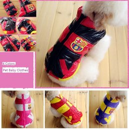 Wholesale Dog Plaid Coat - Pet Fashion Series DZ23-62-3 Dog warm clothes Racing suits down jacket autumn and winter 4 colors Violet-blue, Red, Black, Rose Red