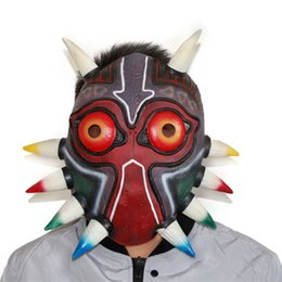 Wholesale Dress Up Props - The Legend of Zelda Majora's Mask Halloween Scary Mask Cosplay Dress Up New Props Free Shipping
