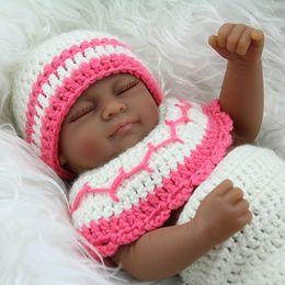 boneca de borracha rosa Desconto 2018 nova chegada melhor presente de natal 28 cm mini brinquedos de vinil menina boneca de silicone reborn baby dolls