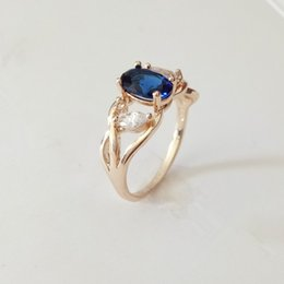 Wholesale 585 Ring - Wholesale- Trendy Hot Sell 585 Rose Gold Color Engagement Jewelry New Top Fashion Prong Setting Cubic Zircon Women Wedding Ring