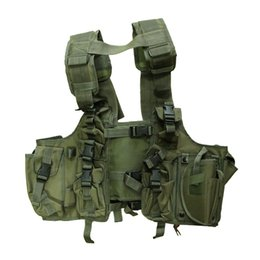 Wholesale Gear 12 V - Outdoor Tactical gear 100% Polyester Wargame and Airsoft equipement A-12 French Style Tactical Vest