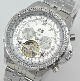 Wholesale Classic Tourbillon - Wholesale Famous Brand Mens Casual Automatic Mechanical Wristwatch Classic Designer Steel Strip Tourbillon Watches Hombre 49MM