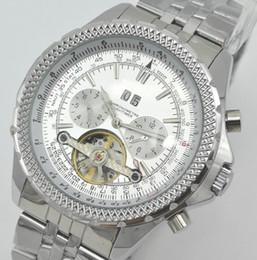 Wholesale Strip Pins - Wholesale Famous Brand Mens Casual Automatic Mechanical Wristwatch Classic Designer Steel Strip Tourbillon Watches Hombre 49MM