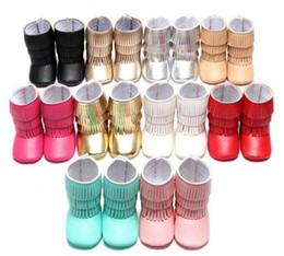 Wholesale Baby Step Shoes - Newest Hot 3 Layer Tassel Moccasins Latest Pu Leather Baby First Walkers Shoes Newborn Baby Boots Infant First Step Shoes Prewalkers
