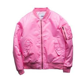 Wholesale Japanese Style Jackets - new style pink Anarchy tour MA1 Black Army Green kanji pilot flight jackets Japanese Bomber baseball Coats military