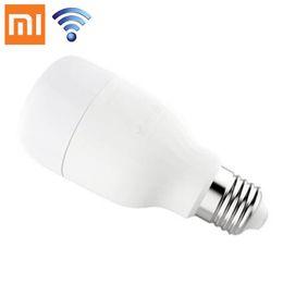 Wholesale Original Bubbles - Original Xiaomi Mi Yeelight LED Bulb Smart App Wifi Remote Control Adjustable Brightness Eyecare Bulb White Color Warm White for Smartphone