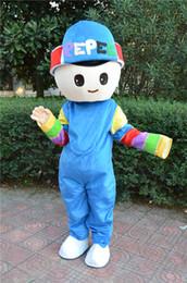 Wholesale Cartoon Mascot Boy - pepEE boy mascot costume adult costume Halloween costume Christmas party animal cartoon adult size garment factory direct private custom
