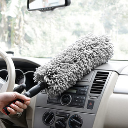 Wholesale Vehicle Cleaning Brushes - Microfiber Car Home Cleaning Duster Lint Wax Polishing Tool Extendable Flexible Vehicle Duster Bush Handle Multifunction