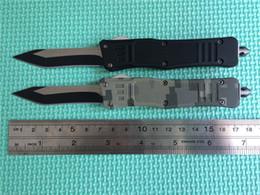 Wholesale Fine Points - Best Price! Small MT Mic-tech 616 knife combat troodon A161 pocket knife singel blade fine edge Drop point knive hiking knife 2 color handle