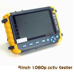 Wholesale Cctv Inch Monitors - 5 inch TFT LCD 1080P TVI AHD CVI CVBS Analog security camera tester monitor in one cctv tester VGA HDMI input IV8S ann
