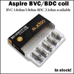 Wholesale Vivi Genuine - Storage clearance Genuine Aspire BDC dual coil 2.1ohm coils heads for Aspire Atomizer CE5 CE5s tanks vivi-nova ET ET-S e-pen bvc atomizers